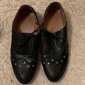 Torrid Black Studded Tie Shoes, Size 11 Wide